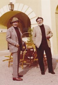 1974, Voskovec and Werich - meet in Vienna