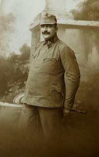 Otec Jan Höchsmann v rakousko uherské armádě