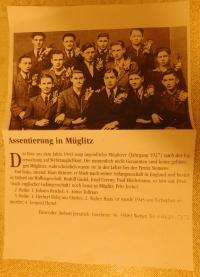 Dopis od kamaráda z Německa Roberta Jerzabeka s fotografií chlapců (i Pavla Höchsmanna)z Mohelnice narukujících v roce 1943 do RAD a popisem jak dopadli za války