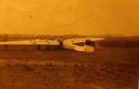Letadlo Kranich s nímž dělal Pavel Höchsmann pilotní zkoušku v Kopřivnici