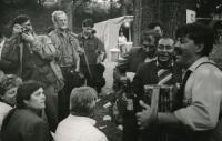 Při fotografování Romfestu, rok 1991