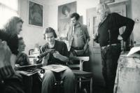 Pavel Dias s přáteli v Kyjově, 90. léta 20. století