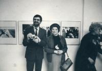 Pavel Dias s matkou, 80. léta 20. stol.