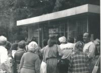 1981 - the queue for cigarettes Poland