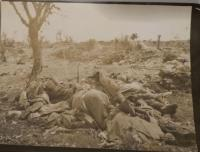 bodies of fallen soldiers after a battle in the eastern front, picture of František Bublík
