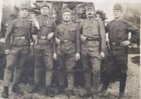 father František with comrades, on the right