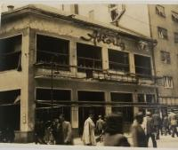cafe Astória after the bombing, pictured by the witness