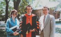 Promoce (Ph.D.) blízkého rodinného přítele Michaela Krause na Princetonu -1986