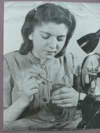 Reklamní fotografie, na které je manželka Josefa Růžičky