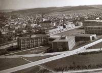 Pohled na školní čtvrť ve Zlíně, 1935