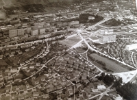 Letecký pohled na Zlín v roce 1935