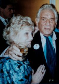 1990 - Inka s Leonardem Bernsteinem při jeho návštěvě Prahy