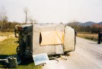 Havárie UAZu 469; směr Banja Luka; 1998