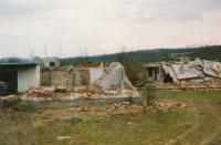 Prijedor - zničené domy Bosňáků