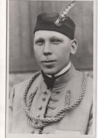 Otec pamětníka Břetislav Hájek