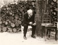 Marie's father Antonín Doleček, 1973