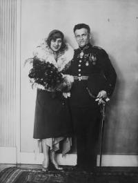 Adéla Bláhová (Hartmannová) and Silvestr Bláha