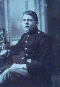 Otec Kristián Holáň v rakousko-uherské armádě