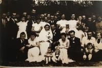 Family portrait from mr. Budac wedding ceremony