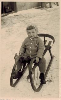 Josef Horký at pre-school age