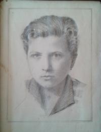 obrázek, který měl Věry otec Karel Šobr s sebou ve vězení