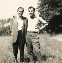 S bratrem Alfrédem v padesátých letech