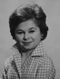 Vlasta Janoušková - young - portrait - 1960