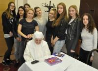 With pupils from the project Stories of Our Neighbours