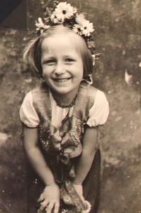 Libuše Všetečková - mladá
