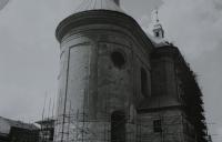 Oprava farního kostela sv. Jana Křtitele v Hranicích, který opravoval pamětník Josef Jančář.