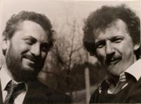 With the writer Dušan Dušek, 70s