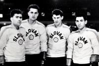 Fako with teammates from Slovan, first from left