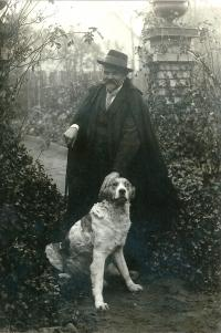 Pradědeček Antonín Klos, kolem roku 1916