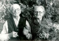 Zlatá svatba Janových prarodičů z matčiny strany, rok 1959
