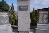 Památník v Krásném Poli padlým ve druhé světové válce, Josef Bajgar, Zdeňkův otec, vpravo nahoře