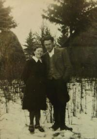 E.Šiková s prvním manželem, Vladimírem Svítkem