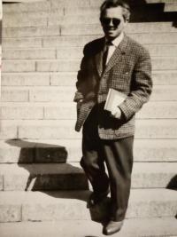 dobová fotografie, Brno, výtvarná škola na Husově ulici, rok 1948