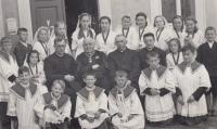 Ladislav Lašek as acolyte - on the left