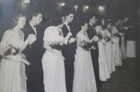 Ladislav Lašek - graduation ball (on the left side)