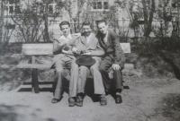 Ladislav Lašek with his friends