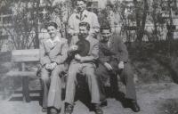 Ladislav Lašek with his friends - Miloslav Šot, Miroslav Vlk and Antonín Grafnetter