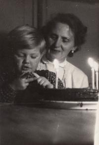 Mother od his wife Irena with her grandson