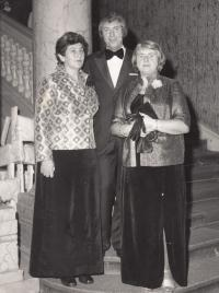 Ladislav Lašek at graduation ball of Masaryk gymnasium - with his wife and mother-in-law from his son's side