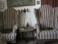 Beautiful chairs Ladislav Lasek inherited from his parents - they are found there by the Germans