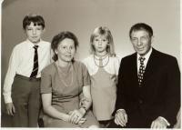 František Teplý s rodinou