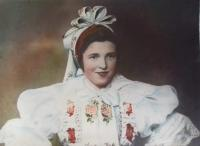 1949 - Aloisie in traditional costume, original photo