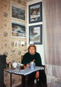 Jiří´s mother in her Paris flat, about 1990