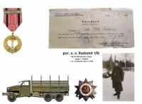 confirmation - Čs. commemorative military medal of the USSR