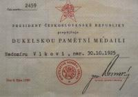 Dukla Memorial Medal