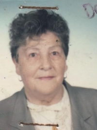 Marianne Jarkulišová, née Neupert, at the time when she was getting retired
